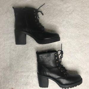 Cathy Jean platform combat boot